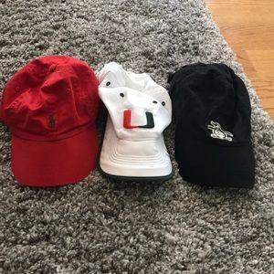Nike, Polo and, an original penguin baseball hats!